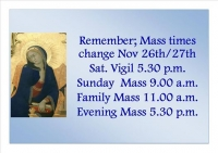 New Mass Times at Immaculate Conception